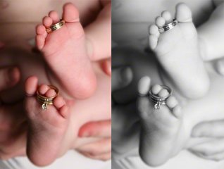 Wedding Rings on Baby's Toes