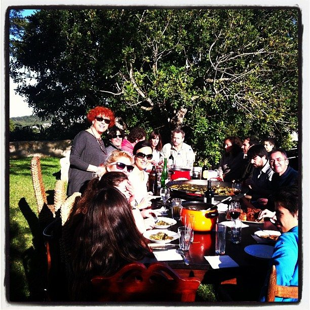 The first meal of the New Year withartists, friends and family in Javea.