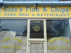 Shop sign - Sids's Fish and Chips
