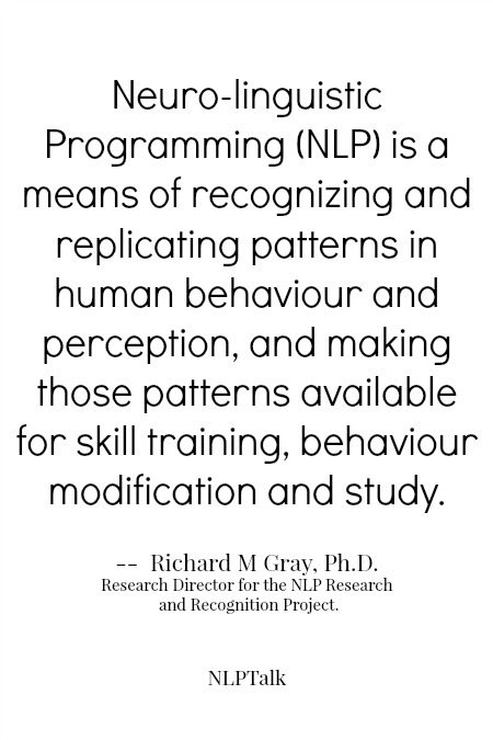 NLP definition Richard Gray