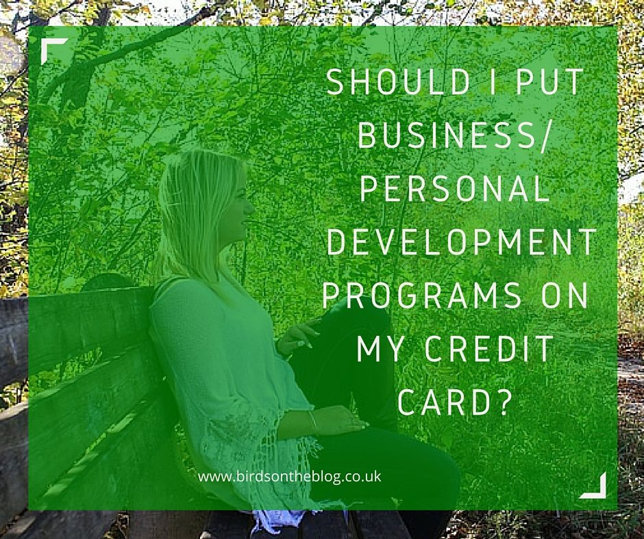 business development on credit card