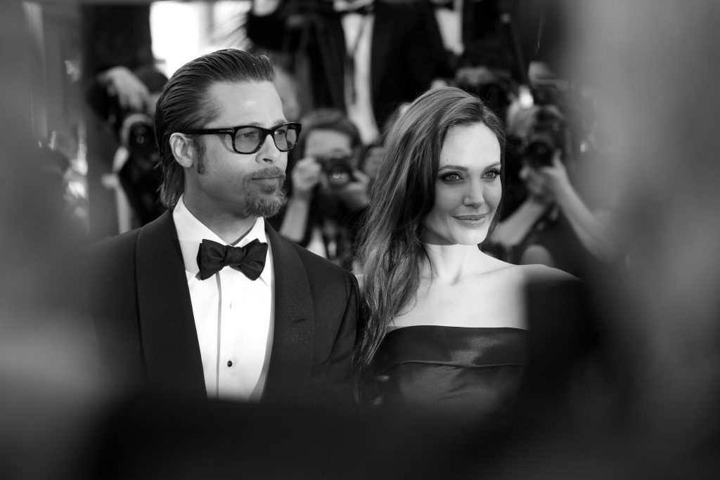 CANNES, FRANCE - MAY 16 : Angelina Jolie and Brad Pitt attend 'The Tree Of Life' Premiere during the 64th Cannes Film Festival